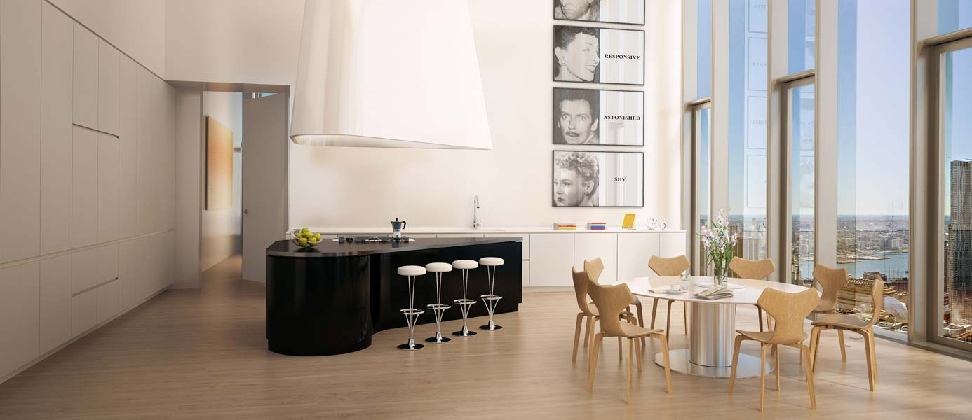 56 Leonard Penthouse Kitchen Rendering
